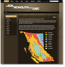 The Soil Monolith Collection website
